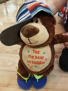 Tag the Bear prepares to go on holiday with Spported Holidays by Morley Care Services