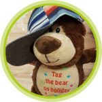 Tag-the-Bear ready for his trip with Supported Holidays
